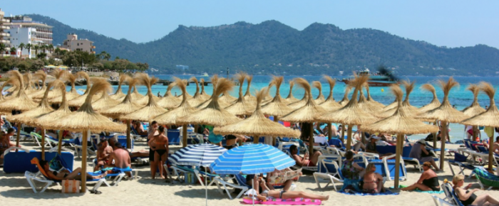 Tourism Balearic Islands Mallorca july